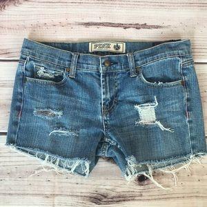 PINK Victoria Secret Cutoff Jean Shorts